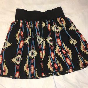 Flowy tribal Mini Skirt